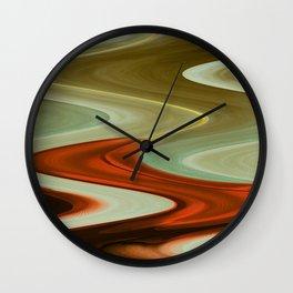 Earth Waves Wall Clock