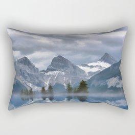 Sisterhood - The Three Sisters, Canmore Alberta, Canada Rectangular Pillow