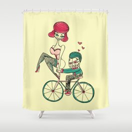 Love Ride! Shower Curtain