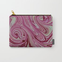 Pink, white and  creamy marble Carry-All Pouch