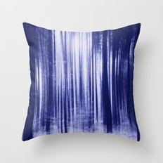 Indigo Woods Throw Pillow
