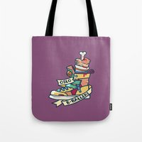oslo Tote Bags featuring Oslo B-ball Squadron by Fightstacy