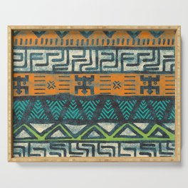 Grunge african pattern Serving Tray