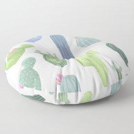 watercolor cacti plants pattern Floor Pillow