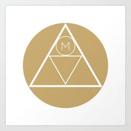 The Modern Millennial Emblem Art Print