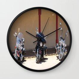 Motorcycle Parade Wall Clock