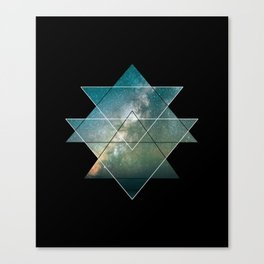 Starlight Geometry Canvas Print