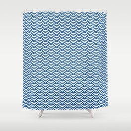 """Seigaiha"" Japanese traditional pattern Shower Curtain"