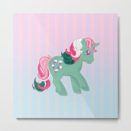 g1 my little pony stylized Fizzy Metal Print