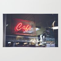 aperture Area & Throw Rugs featuring Camera Café by Javier F. Díaz