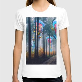 Forest of Super Electric Jellyfish Worlds T-shirt