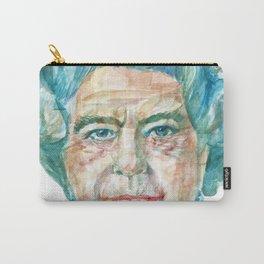 ELIZABETH II - watercolor portrait Carry-All Pouch