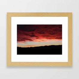 morning mountains Framed Art Print