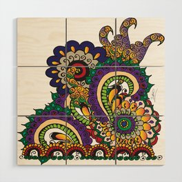 Hello 70s! Corally Wood Wall Art