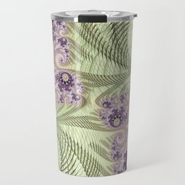 pink and green FRACTAL ART by ALICE Travel Mug