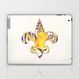 Fleur De Lis LSU Tiger Laptop & iPad Skin