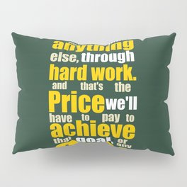 Lab No. 4 - Vince Lombardi Sport Inspirational Quotes Typography Poster Pillow Sham