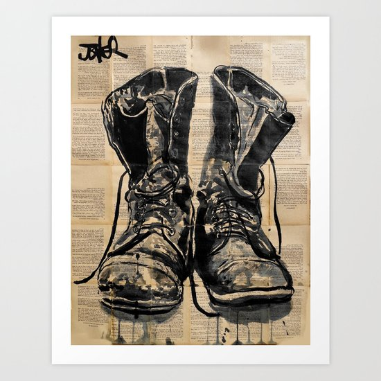 these old boots Art Print