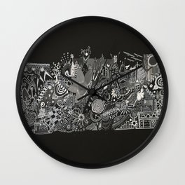 Blanco and Black Wall Clock