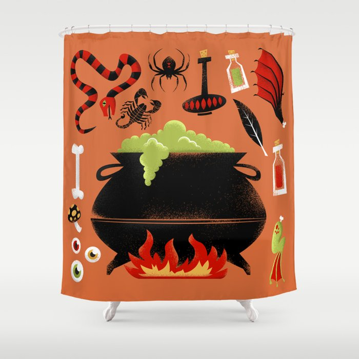 Witchs Brew Shower Curtain By Jhclarkiv