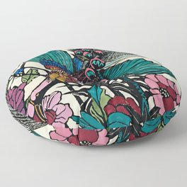 """Bird of Paradise"" by Margaret Preston Floor Pillow"