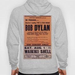 Vintage 1965 Waikiki Shell Hawaii Bob Dylan Concert Poster Hoody