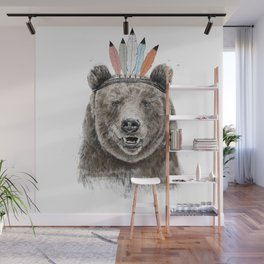 Festival bear Wall Mural