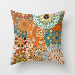 Boho Mandela Pattern 1 Throw Pillow