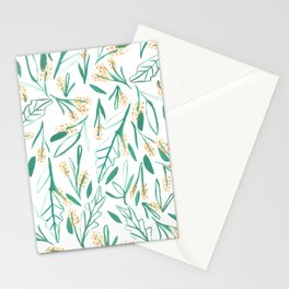 Mustard & Green Leaves Stationery Cards