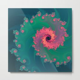 SWIRLY PASTEL Metal Print