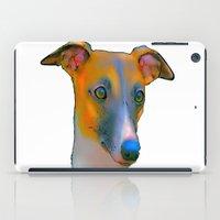 greyhound iPad Cases featuring Greyhound by Marlene Watson