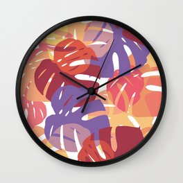 color leaves Wall Clock