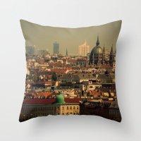 vienna Throw Pillows featuring Vienna 06 by MehrFarbeimLeben