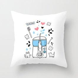 Dental hygiene Throw Pillow