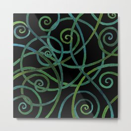 Watercolor spirals Metal Print