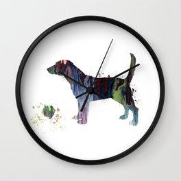 Beagle Art Wall Clock