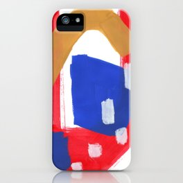 Minimalist Abstract Fun Mid Century Colorful Primary Colors Red Yellow Blue Juvenile Playful Pattern iPhone Case