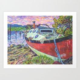 Claude's Boat Art Print