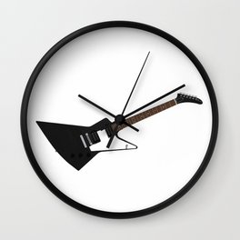 Black Electric Guitar Wall Clock