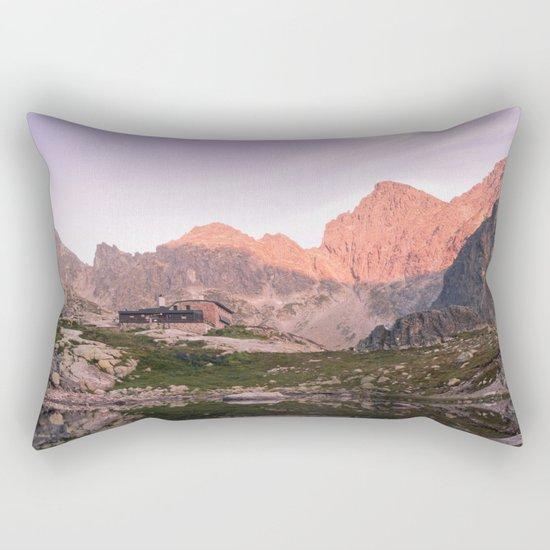 Rocky Lake Rectangular Pillow