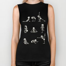 Skeleton Yoga Biker Tank
