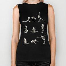 Skeleton Yoga Biker Tank