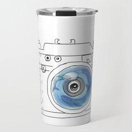 Underwater camera: mom & baby whale Travel Mug