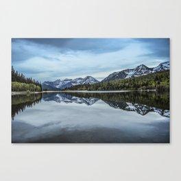 Silver Lake Flat, Mt. Timpanogos Reflection Canvas Print