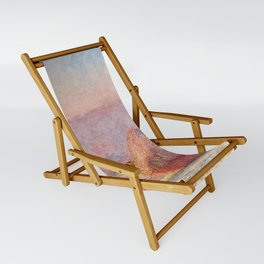 White Frost, Sunrise by Claude Monet Sling Chair