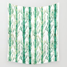 bamboo pattern Wall Tapestry