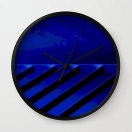 Blue Horizon Wall Clock