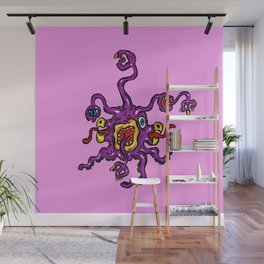 Are you ill? Check your Germs! Purple Slurple Wall Mural