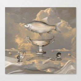 Silver Mood Canvas Print