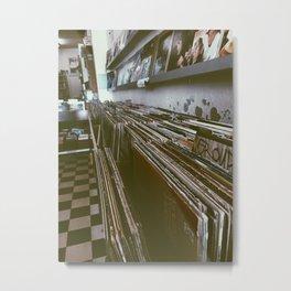 Vinyl records Metal Print